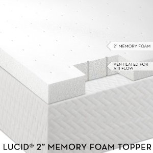 Lucid Ventilated Memory Foam Mattress Topper by Linenspa