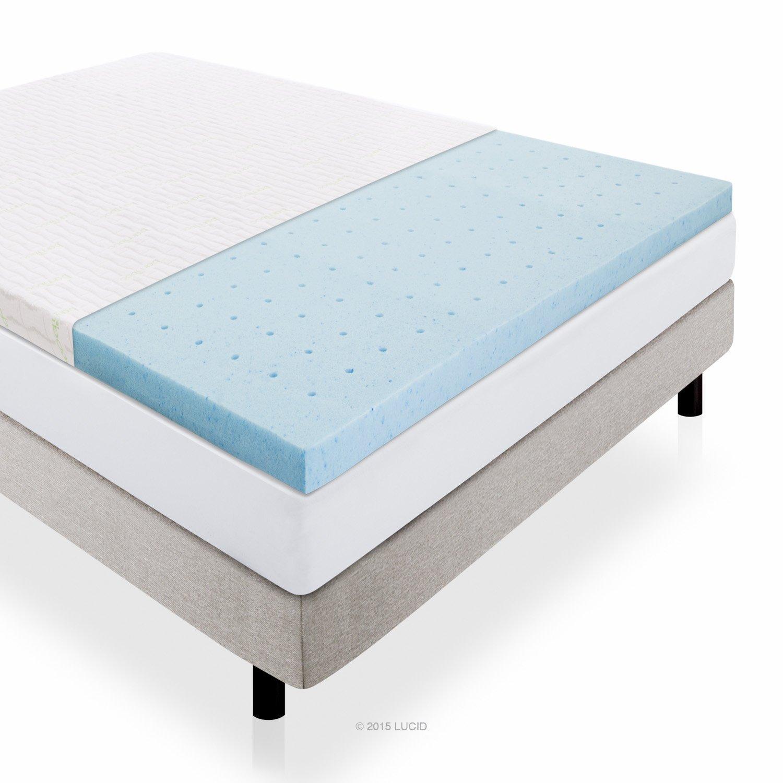 LUCID 2 5 Inch Gel Infused Memory Foam Mattress Topper Review