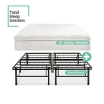 Night Therapy Spring 12 Inch Euro Box Top Mattress and SmartBase Complete Set, Queen