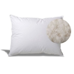 Extra Soft Down Filled Pillow for Stomach Sleepers w/ Cotton Casing - Made in the USA, Standard