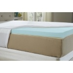 Natures Sleep AirCool IQ Queen Size 2.5 Inch Thick 3lb Density Gel Memory Foam Mattress Topper with Microfiber Fitted Cover and 18 Inch Skirt