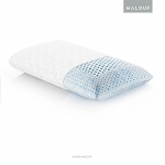 Z Gel Infused Talalay Latex Pillow with Support Zones for Head and Neck - Queen Size, High Loft Firm