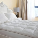 Duck & Goose Co Plush Durable Premium Hotel Quality Mattress Topper, Hypoallergenic Down Alternative Fiber with 10-Year Warranty King Size