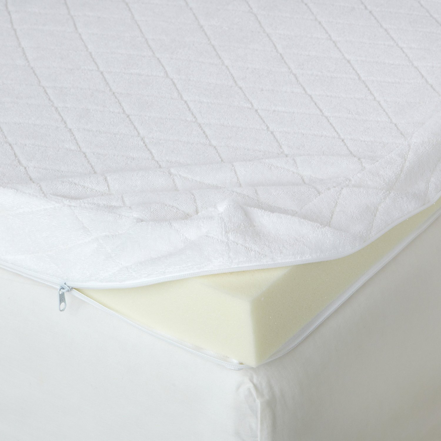 zippered mattress topper cover Memory Foam Mattress: Isotonic Memory Foam Mattress Topper zippered mattress topper cover